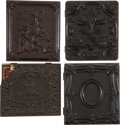 Photography:Ambrotypes, Lot of Four Sixth Plate Images in Thermoplastic Union Cases.... (Total: 4 Items)