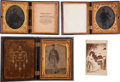 Photography:Tintypes, Lot of Three Civil War Soldier Tintypes in Thermoplastic UnionCases.... (Total: 4 Items)