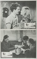Books:Prints & Leaves, Peter Bogdanovich. SIGNED. The Last Picture Show. Group of Two Original Lobby Cards, Each Signed by the Director, ...