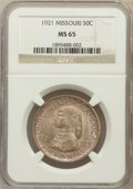 Commemorative Silver: , 1921 50C Missouri MS65 NGC. NGC Census: (302/38). PCGS Population(263/32). Mintage: 10,428. Numismedia Wsl. Price for prob...