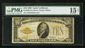 Small Size:Gold Certificates, Fr. 2400 $10 1928 Gold Certificate. PMG Choice Fine 15 Net.. ...