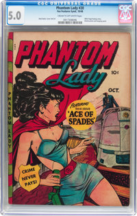 Phantom Lady #20 (Fox Features Syndicate, 1948) CGC VG/FN 5.0 Cream to off-white pages