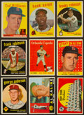 Baseball Cards:Lots, 1950's-1960's Topps Baseball Stars and HoFers Collection (9). ...