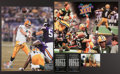 Football Collectibles:Photos, Brett Favre Signed Oversized Photographs Lot of 2....