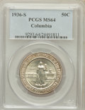 Commemorative Silver: , 1936-S 50C Columbia MS64 PCGS. PCGS Population (538/1256). NGCCensus: (194/1260). Mintage: 8,007. Numismedia Wsl. Price fo...