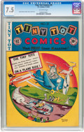 Golden Age (1938-1955):Funny Animal, Tiny Tot Comics #9 (EC, 1947) CGC VF- 7.5 Off-white pages....