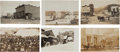 Western Expansion:Goldrush, Real Photo Postcards: Six Idaho Town Scenes,... (Total: 6 Items)
