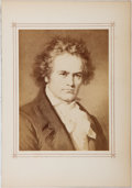 Books:Prints & Leaves, Ludwig van Beethoven. Taken from Gallery of German Composers by Carl Jager. Stroefer & Kirchner, [n. d.]. Approx...