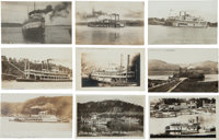 Real Photo Postcards: Nine Ohio River Steamers