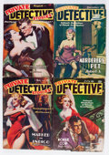 Pulps:Detective, Private Detective Stories Box Lot (Trojan Publishing, 1937-49)Condition: Average GD/VG....