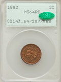 Indian Cents: , 1882 1C MS64 Red and Brown PCGS. CAC. PCGS Population (239/72). NGCCensus: (316/244). Mintage: 38,581,100. Numismedia Wsl....