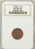 Indian Cents: , 1883 1C MS66 Red and Brown NGC. NGC Census: (44/2). PCGS Population(2/0). Mintage: 45,598,108. Numismedia Wsl. Price for p...