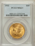 Indian Eagles: , 1932 $10 MS63+ PCGS. PCGS Population (17863/9870). NGC Census:(21096/12919). Mintage: 4,463,000. Numismedia Wsl. Price for...