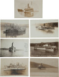 Transportation:Nautical, Real Photo Postcards: Seven New York Steamers,... (Total: 7 Items)