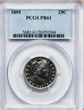 Proof Barber Quarters: , 1895 25C PR61 PCGS. PCGS Population (16/193). NGC Census: (6/192).Mintage: 880. Numismedia Wsl. Price for problem free NGC...