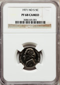 Proof Jefferson Nickels: , 1971 5C No S PR68 Cameo NGC. NGC Census: (17/11). PCGS Population(51/8). Numismedia Wsl. Price for problem free NGC/PCGS ...