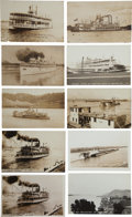 Transportation:Nautical, Real Photo Postcards: Ten Missouri, Iowa, Illinois and IndianaSteamers,... (Total: 10 Items)