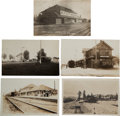 Transportation:Railroad, Real Photo Postcards: Five California Train Depot Scenes....(Total: 5 Items)