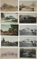 Transportation:Railroad, Real Photo & Print Postcards: Ten California Train Depots....(Total: 10 Items)