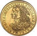 German States, German States: Augsburg - Free City. Leopold the Hogmouth HRE gold2 Ducats 1672,...
