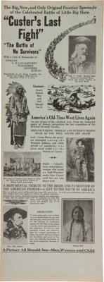 George Armstrong Custer: Silent Movie Poster