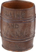 Political:3D & Other Display (pre-1896), James G. Blaine: Redware Mug....
