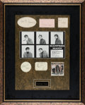 Music Memorabilia:Autographs and Signed Items, Manfred Mann Framed Autograph Display....