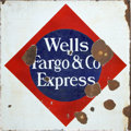 Advertising:Signs, Wells, Fargo & Company: Metal Flange Sign....