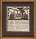 Political:Textile Display (pre-1896), George Washington: 1806 Commemorative Textile....