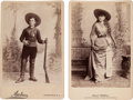 Photography:Cabinet Photos, Two Cabinet Cards, Baker and Ferrell.... (Total: 2 Items)