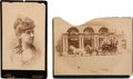 Photography:Cabinet Photos, Cabinet Photo of Arta Cody and Boudoir Photo of Stagecoach....(Total: 2 Items)