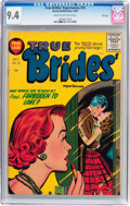 Golden Age (1938-1955):Romance, True Brides' Experiences #14 File Copy (Harvey, 1955) CGC NM 9.4 Cream to off-white pages....