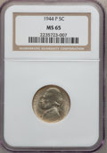Jefferson Nickels: , 1944-P 5C MS65 NGC. NGC Census: (162/2496). PCGS Population(836/1030). Mintage: 119,150,000. Numismedia Wsl. Price for pro...