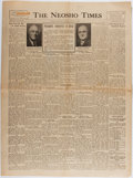 Books:Americana & American History, [Newspapers]. One Issue of the Neosho Times Related to the Death ofPresident Franklin Roosevelt and Harry S. Truman Taking th...