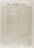 Books:Americana & American History, [Newspapers]. One Issue of The New York Times, Relating to GeneralSherman's March to the Sea During the Civil War. New York...