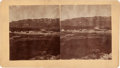 """Photography:Stereo Cards, Stereoview: """"Red Cloud Agency - East View""""...."""