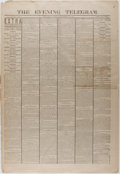 Books:Americana & American History, [Newspapers]. One Issue of The Evening Telegram Related to theDeath of President Garfield. New York: September 20, 1881. So...