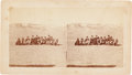Photography:Stereo Cards, Stereoview: Indians, Officers, and Citizens at Camp Robinson, Nebraska....