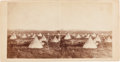 Photography:Stereo Cards, Stereoview: Red Dog's Camp the Day Before leaving Red Cloud Agency, Nebraska....