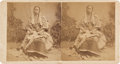 """Photography:Stereo Cards, Stereoview: """"Rocky Bars (Bear's) Dotter (Daughter)""""...."""