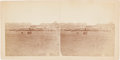 Photography:Stereo Cards, Stereoview: Red Cloud Agency showing the Comercery (Commissary)....
