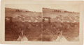 Photography:Stereo Cards, Stereoview: Arapaho Village West of Camp Robinson....