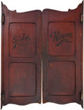 "Advertising:Breweriana, Marvelously-Patinated Pair of Old Swinging ""Saloon Doors.""..."