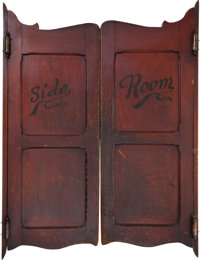 """Marvelously-Patinated Pair of Old Swinging """"Saloon Doors."""""""