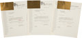 Political:Small Paper (1896-present), John F. Kennedy: Texas Welcome Dinner Tickets and Records. ...