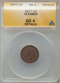 Indian Cents: , 1877 1C -- Cleaned -- ANACS. GD4 Details. NGC Census: (442/3292).PCGS Population (410/2764). Mintage: 852,500. Numismedia ...