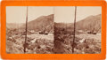 "Photography:Stereo Cards, Stereoview: ""Deadwood Gulch Looking up, General View""...."