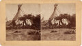 "Photography:Stereo Cards, Stereoview: ""Teapes (Tipis) near the Agency""...."