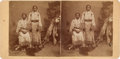 "Photography:Stereo Cards, Stereoview: ""Sioux Squaws in Buckskin Dresses""...."