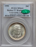 1950 50C Booker T. Washington MS64+ PCGS Genuine. CAC. Ex: Teich Family Collection. NGC Census: (100/447). PCGS Populati...